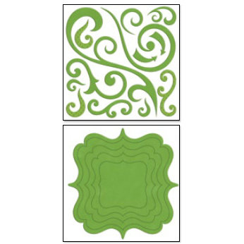 Bo Bunny Press - Chunky Charms Collection - Chipboard Stickers - Swirls and Brackets - Clover, CLEARANCE