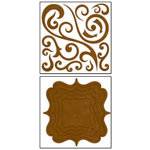Bo Bunny - Chunky Charms Collection - Chipboard Stickers - Swirls and Brackets - Chocolate