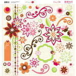 Bo Bunny Press - Vicki B Collection - 12 x 12 Chipboard Stickers - Vicki B