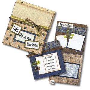Bo Bunny Press - All In One Kit - My Favorite Recipes Binder Album - Blueberrie Pie Style