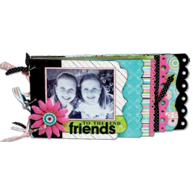 Bo Bunny Press - Alissa Collection - My Edgy Cascading Album Class Kit - Friends To The End, CLEARANCE
