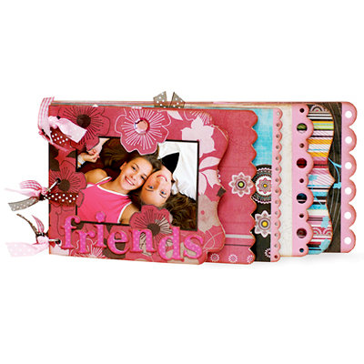 Bo Bunny Press - Sophie Collection - 6 x 12 Edgy Album Class Kit - Friends-The Family You Choose, BRAND NEW