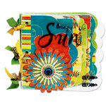 Bo Bunny Press - Flower Child Collection - New Scallop Edgy Album Class Kit - Here Comes The Sun, BRAND NEW