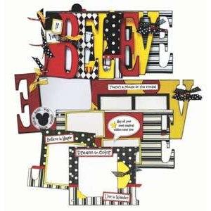 Bo Bunny Press - Word Album Class Kit - Disney Magic - If You Believe
