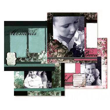 Bo Bunny Press - Moments Like This - Layout Project Kit