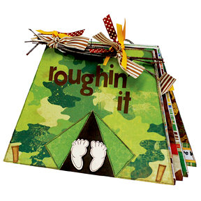 Bo Bunny Press - Roughin' It Collection - Tent Album Class Kit - Roughin' It, CLEARANCE