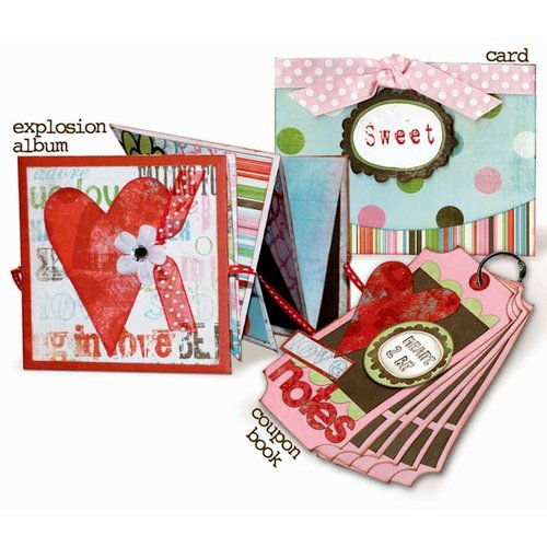 Bo Bunny Press - Persuasion Collection - Explosion Album Card and Coupon Book Class Kit - Share The Love