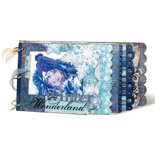Bo Bunny Press - Snowy Serenade Collection - Limited Edition - Edgy Album Class Kit - Winter Wonderland , BRAND NEW