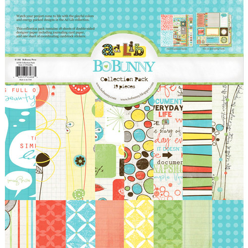 Bo Bunny Press - Ad Lib Collection - 12 x 12 Collection Pack