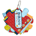 Bo Bunny - Blast Off Collection - Mini Chipboard Album - Puzzle Pieces