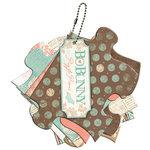 Bo Bunny Press - Gabrielle Collection - Mini Chipboard Album - Puzzle Pieces