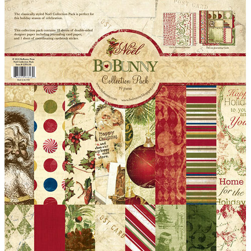 Bo Bunny Press - Noel Collection - Christmas - 12 x 12 Collection Pack, BRAND NEW - click to enlarge