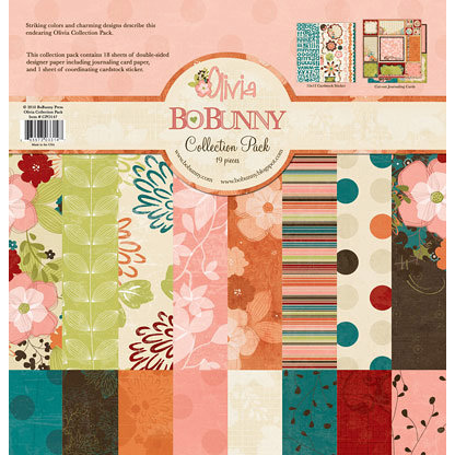 Bo Bunny Press - Olivia Collection - 12 x 12 Collection Pack