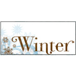 Bo Bunny Press - Winter Whisper Collection - Clear Transparency - Winter, CLEARANCE
