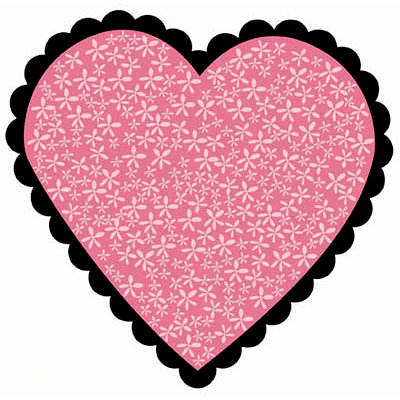 Bo Bunny Press - Crush Collection - Valentine - 12 x 12 Die Cut Paper - Hot Lips