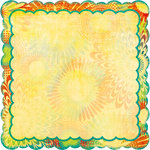 Bo Bunny Press - Flower Child Collection - 12 x 12 Die Cut Paper - Flower Child Psychedelic, BRAND NEW