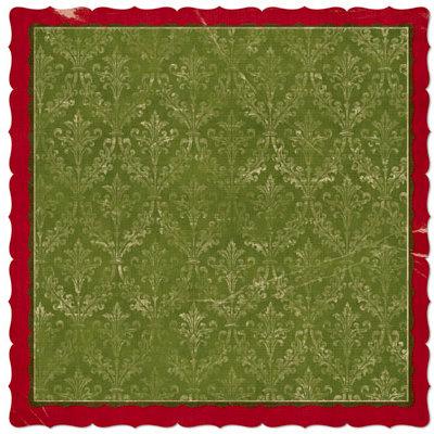 Bo Bunny Press - Noel Collection - Christmas - 12 x 12 Die Cut Paper - Noel Holiday