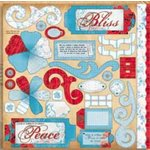 Bo Bunny Press - Bella Journee - Die Cuts - Santorini Collection - Santorini