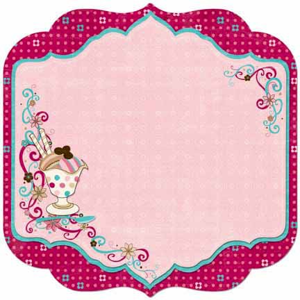 Bo Bunny - Sweet Tooth Collection - 12 x 12 Die Cut Paper - Sweet Tooth