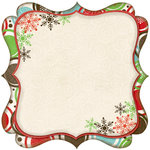 Bo Bunny Press - Tis The Season Collection - Christmas - 12 x 12 Die Cut Paper - Tis The Season Chorus