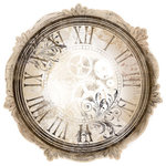 Bo Bunny - Timepiece Collection - 12 x 12 Die Cut Paper - Clockwork