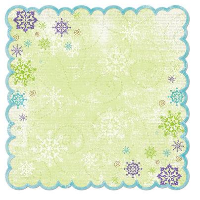 Bo Bunny Press - Winter Joy Collection - Christmas - 12 x 12 Die Cut Paper - Winter Joy Awe