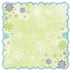 Bo Bunny Press - Winter Joy Collection - Christmas - 12 x 12 Die Cut Paper - Winter Joy Awe
