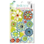Bo Bunny - Alora Collection - 3 Dimensional Stickers with Jewel Accents