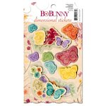 Bo Bunny - Ambrosia Collection - 3 Dimensional Stickers with Jewel Accents