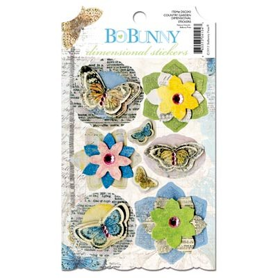 Bo Bunny - Country Garden Collection - 3 Dimensional Stickers with Jewel Accents
