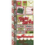 Bo Bunny Press - Holiday Magic Collection - Christmas - Cardstock Stickers - Dear Santa