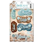 Bo Bunny - Snowfall Collection - 3 Dimensional Stickers with Jewel Accents