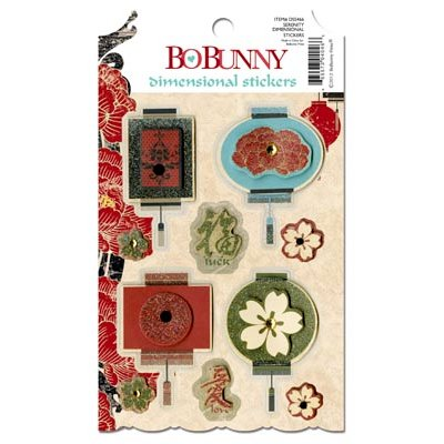 BoBunny - Serenity Collection - 3 Dimensional Stickers with Jewel Accents