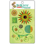 Bo Bunny Press - Flower Child Collection - I Candy 3 Dimensionals - Cardstock Stickers with Glitter and Jewel Accents, CLEARANCE