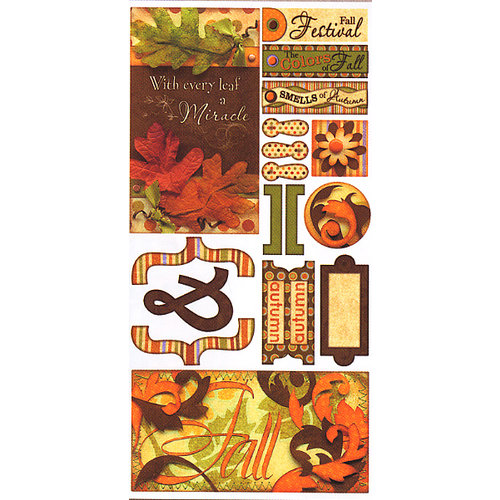 Bo Bunny Press - Fall Festival Collection - Cardstock Stickers - Fall Festival