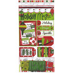 Bo Bunny Press - Holiday Magic Collection - Christmas - Cardstock Stickers - Holiday Magic, CLEARANCE