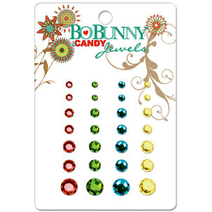 Bo Bunny Press - Flower Child Collection - I Candy Jewels - Flower Child, CLEARANCE