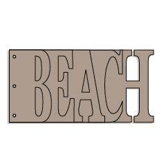 Bo Bunny Press - Album - My Word - Beach - Chipboard - Ocean