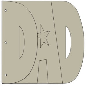 Bo Bunny Press - My Big Fat Word Chipboard Albums - Dad