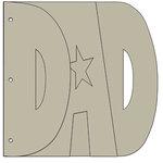 Bo Bunny Press - My Big Fat Word Chipboard Albums - Dad