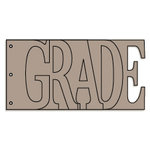 Bo Bunny Press - Album - My Word - Grade - Chipboard - School