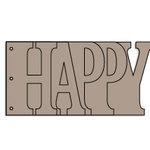 Bo Bunny Press - Album - My Word - Happy - Chipboard - Birthday