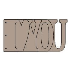 Bo Bunny - Album - My Word - I Love You - Chipboard
