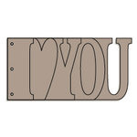 Bo Bunny - Album - My Word - I Love You - Chipboard