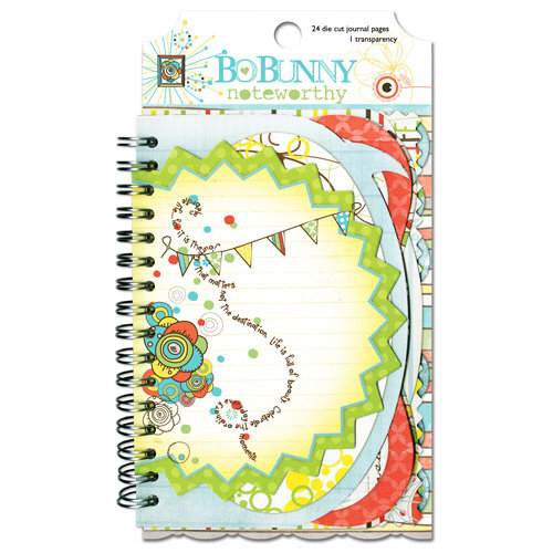 Bo Bunny Press - Ad Lib Collection - Note Worthy Journaling Cards - Ad Lib