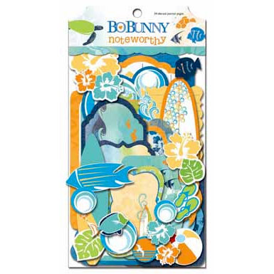 Bo Bunny Press - Barefoot and Bliss Collection - Note Worthy Journaling Cards - Barefoot and Bliss