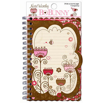 Bo Bunny - Crazy Love Collection - Valentine - Note Worthy Journaling Cards - Crazy Love