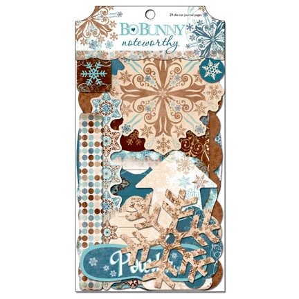 Bo Bunny Press - Snowfall Collection - Note Worthy Journaling Cards