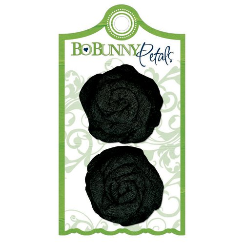 Bo Bunny Press - Learning Curve Collection - Petals - Charcoal Knit