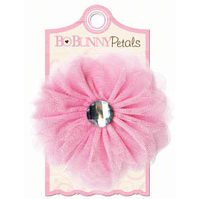 Bo Bunny - Crazy Love Collection - Valentine - Petals - Flower with Jewel Center - Pink Parfait